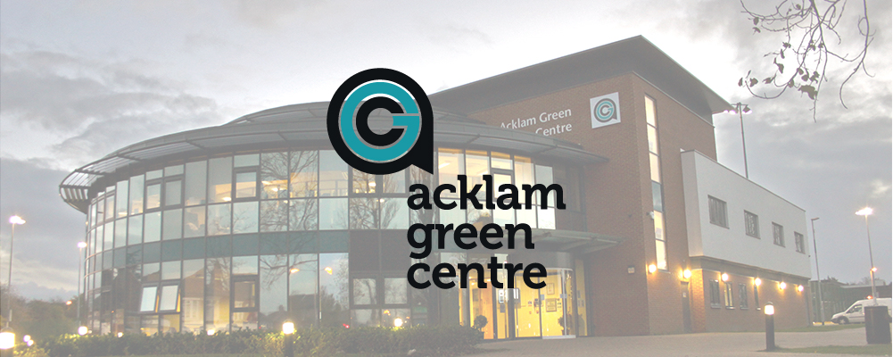 Acklam Green Centre Exterior with Logo Banner Image