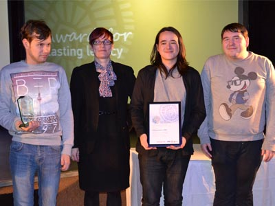 Staff and Young People celebrate double awards success