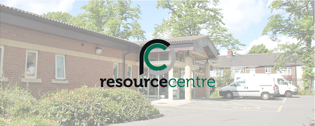 Resource Centre Exterior With Logo Banner Image